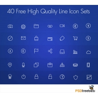 40 Free High Quality Line Icon Set