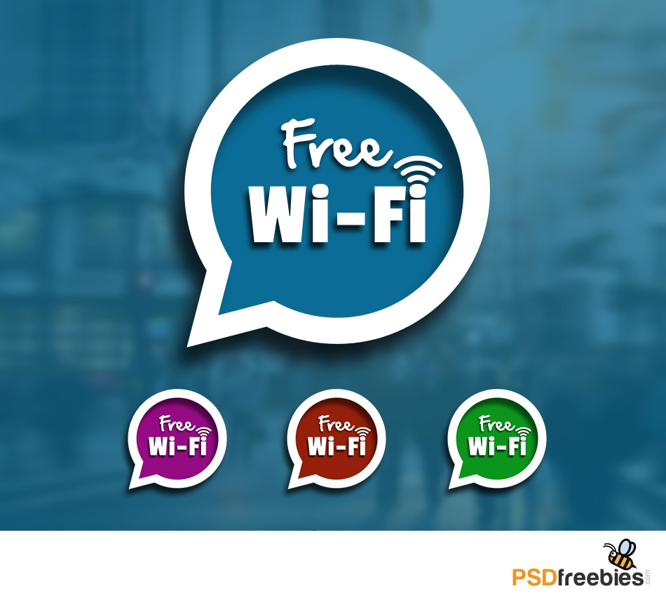 Speech Bubble With Free WIFI Sign