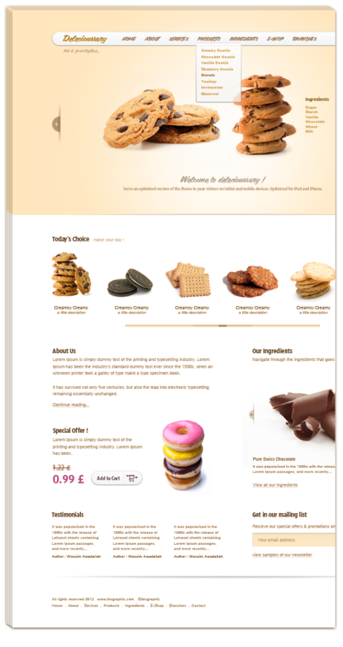 Delecioussary Cookies Website Template