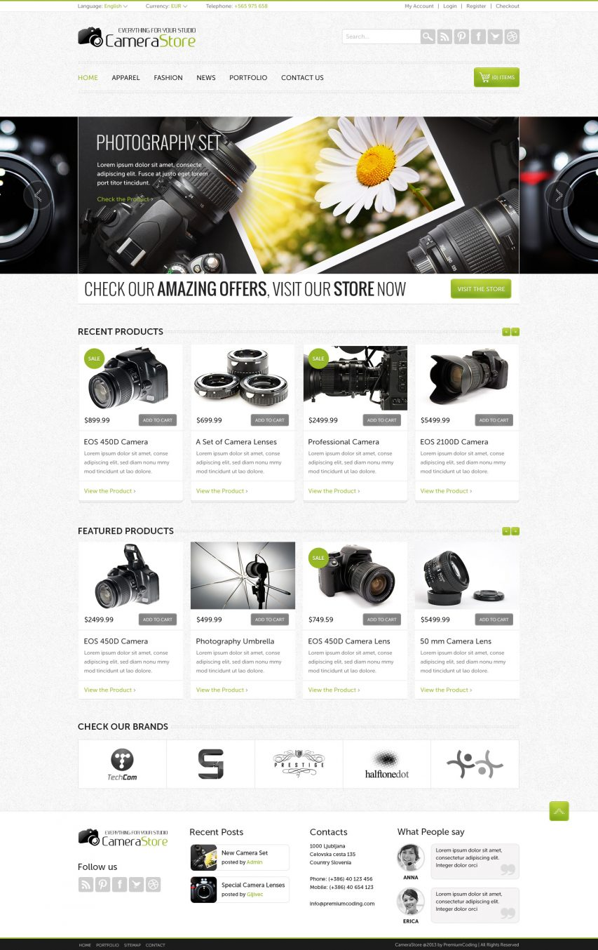 Camera Store Ecommerce