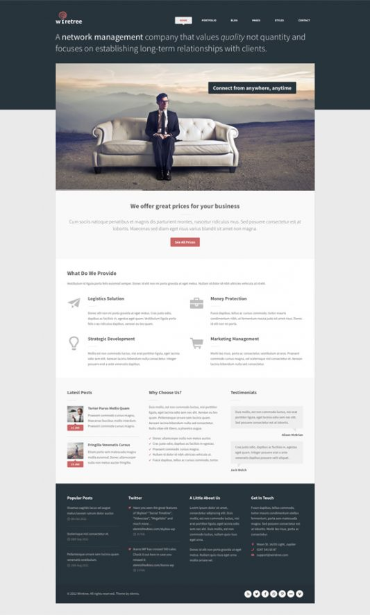 Wiretree Free Homepage