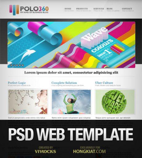 Polo360 Portfolio Site PSD
