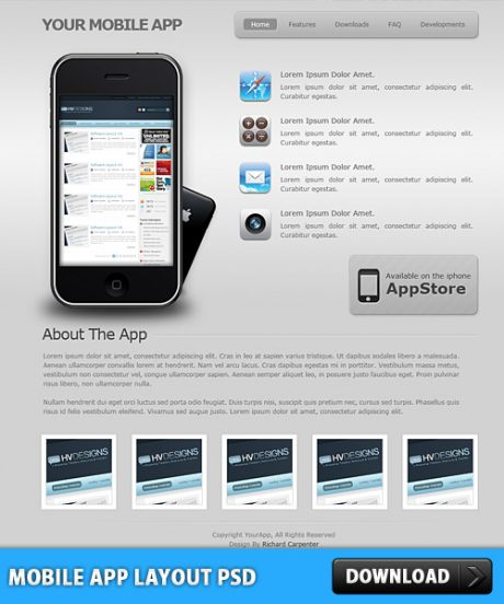 Mobile App Layout Free