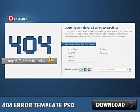 404 Error Template Free