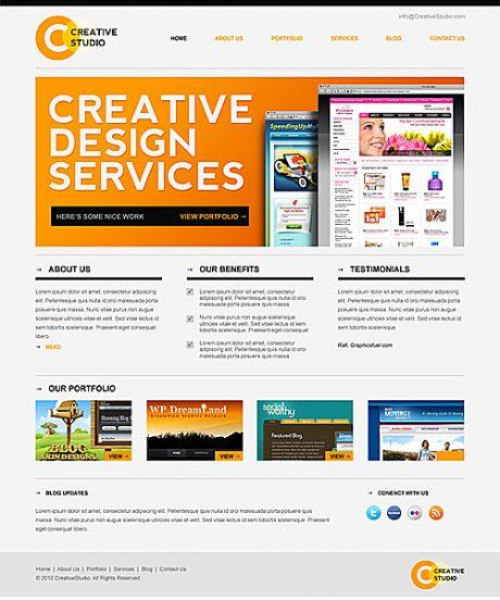 Sleek Minimal Website PSD