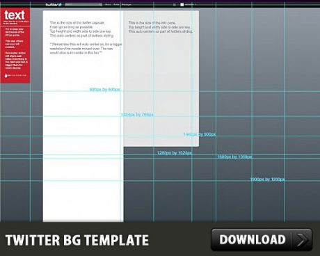 Twitter Background Free PSD Template