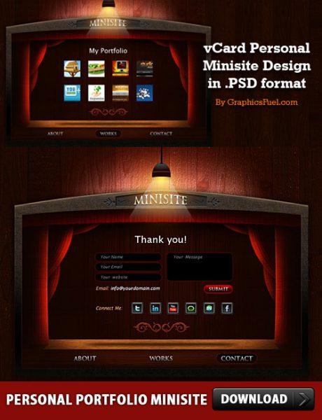 Free Personal Portfolio Minisite