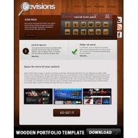 Wooden Portfolio Free PSD