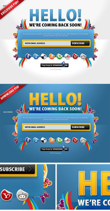Colorful Free Coming Soon Page
