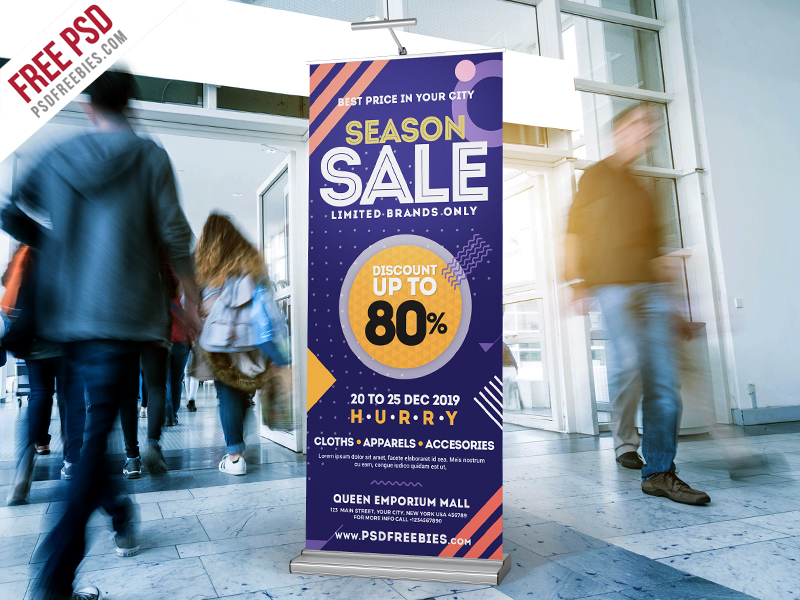 Season Sale Roll-Up Banner Free