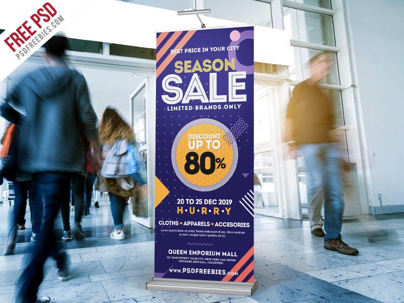 Season Sale Roll-Up Banner Free