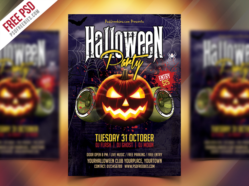 Free Halloween Party Flyer