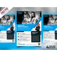 Free Corporate Flyer PSD Template Bundle