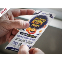Halloween Kids Party Invitation Card PSD