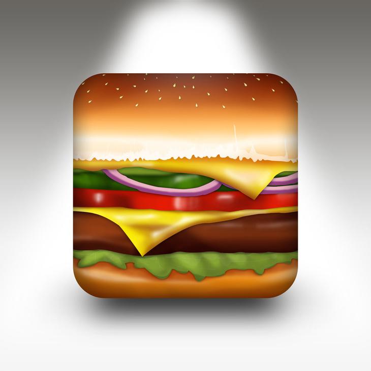Free PSD Burger App Icon