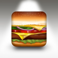 Free PSD Burger App Icon