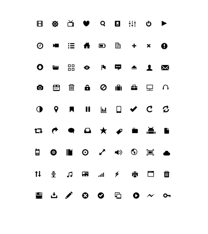 Small Glyph Icons