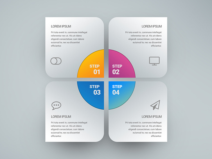Infographic Free PSD