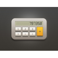 Calculator Free PSD File