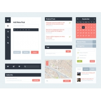 Flat Blog UI Kit