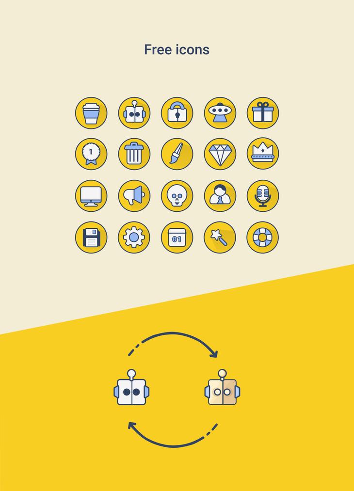 Free PSD Icons Set