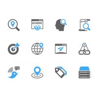 PSD SEO Glyph Icons