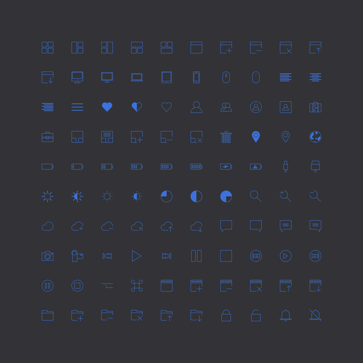 100 Free Stroke Icons
