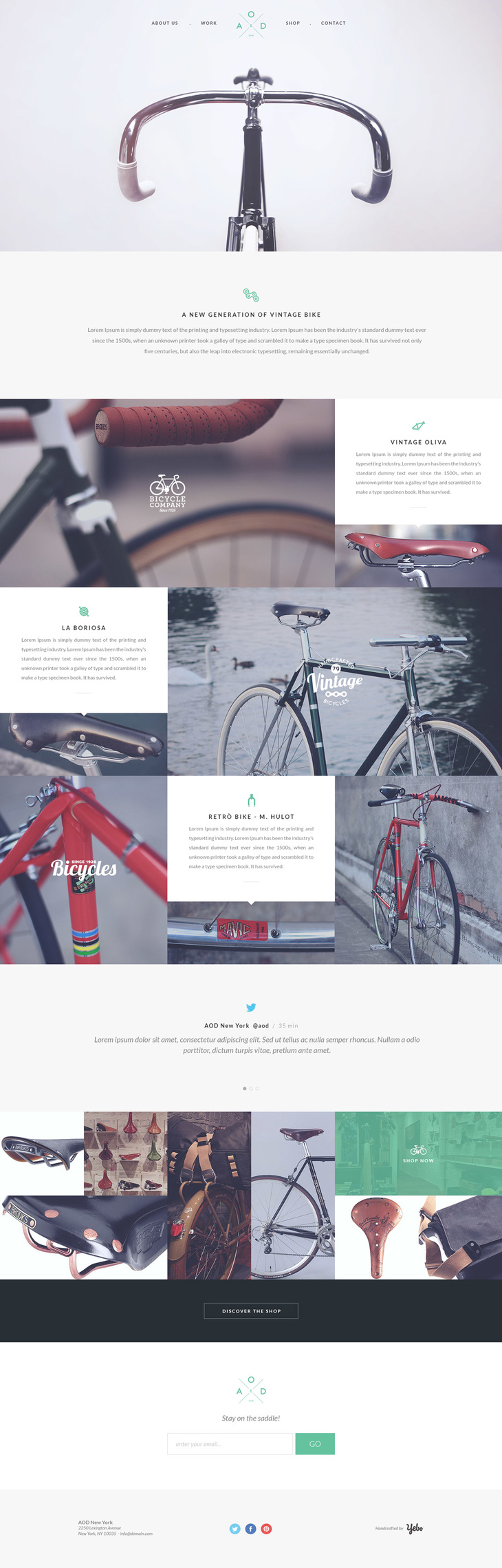 OnePage PSD Template