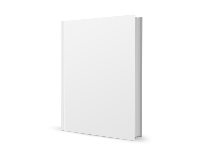 Blank Book Template PSD