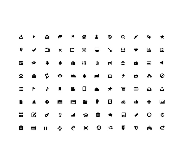 Glyphs Icon Set