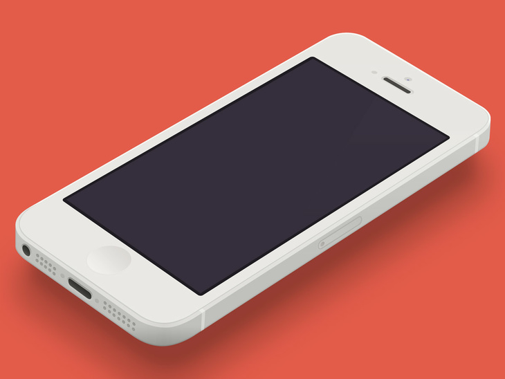 Minimal iPhone 5 Template PSD