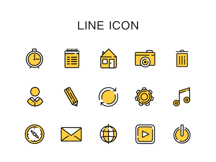 15 Line Icons