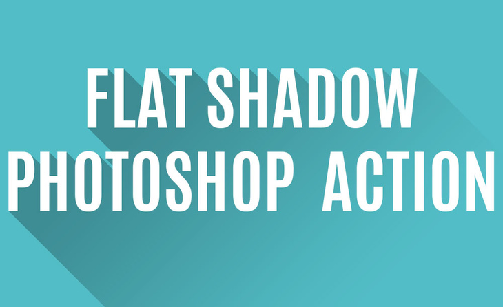 Flat Shadow - Photoshop Action