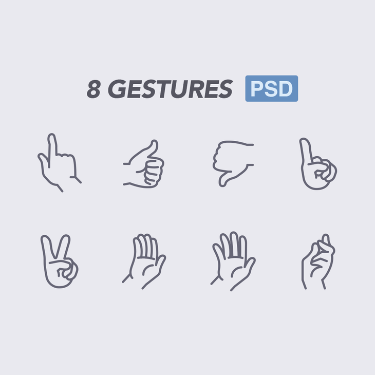 8 Gestures Icons