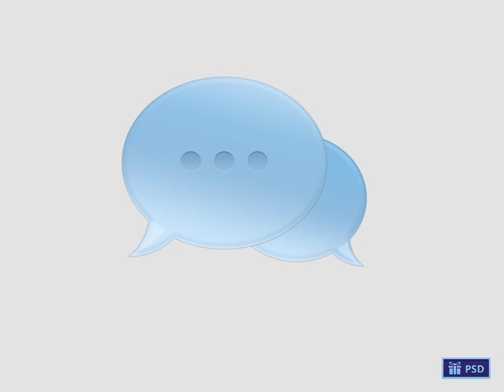 Chat Bubble Free PSD