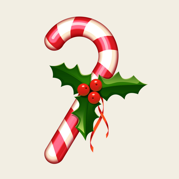 Candy Cane PSD Icon
