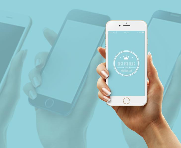 iPhone 6 Holding Hand Mockup