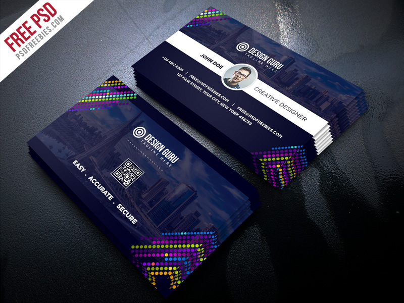 Creative Business Card Template Free PSD