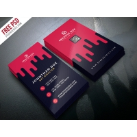 Creative Digital Agency Business Card Template PSD