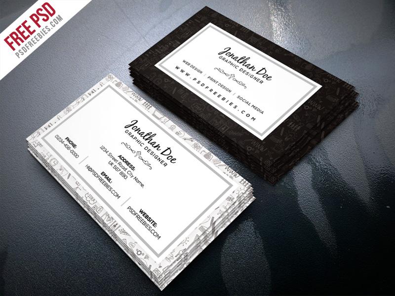Freelance Designer Business Card Template PSD