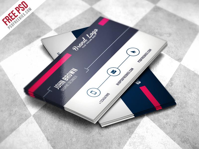 Modern Business card Design Template Free PSD