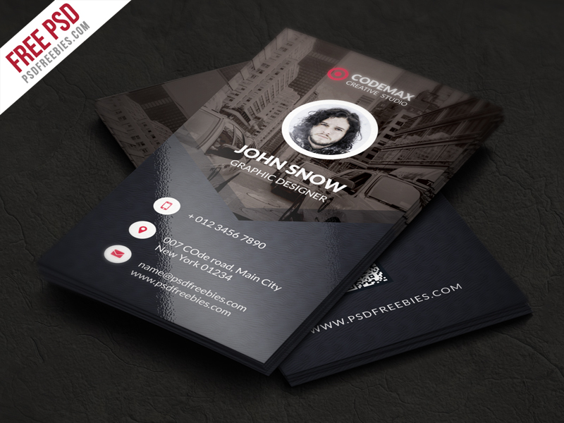 Modern Business Card Free PSD Template
