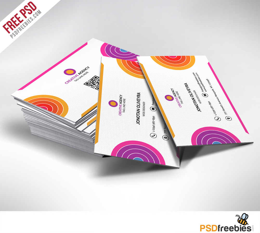 Creative and Colorful Business Card Free PSD
