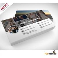 Professional Photographer Business Card PSD Template Freebie