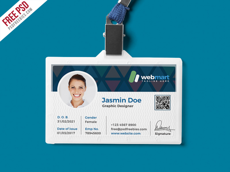 Office ID Card Design PSD