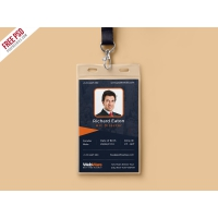 Vertical Company Identity Card Template PSD
