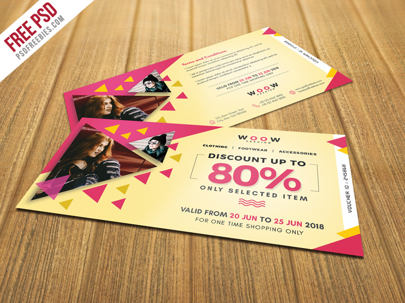 Fashion Sale Discount Coupon PSD Template