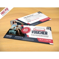 Discount Voucher PSD Template Freebie