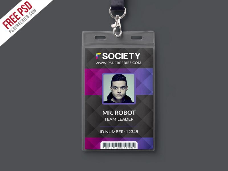 Corporate Office ID Card PSD Template