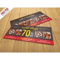 Restaurant Food Discount Voucher Free PSD